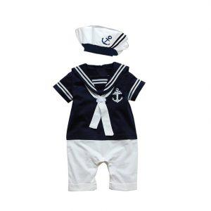 470641f48d54 Baby Boy Sailor Romper - Babies In Uniform